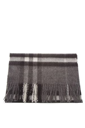 GREY CHECKED SCARF IN CASHMERE FW 2018 BURBERRY | 20 | 39942071GREY