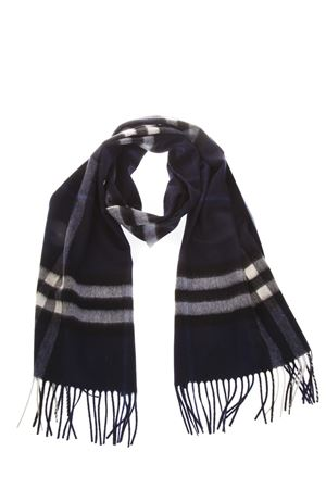 BLUE CHECKED SCARF IN CASHMERE FW 2018 BURBERRY   20   39943061BLU