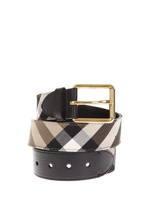 LEATHER & CANVAS CHECKED BELT FW 2018 BURBERRY | 12 | 40414281BLACK