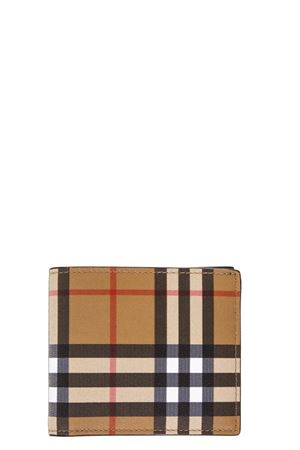 CHECKED VINTAGE BOOK OPENING WALLET IN LEATHER FW 2018 BURBERRY | 34 | 40740371BLACK