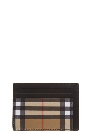 CHECKED VINTAGE CARD CASE IN LEATHER FW 2018 BURBERRY | 78 | 40744421BLACK