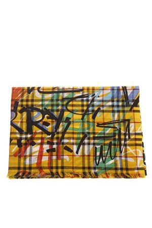 YELLOW VINTAGE GRAFFITI MULTICOLOR CHECK SCARF FW 2018 BURBERRY | 20 | 40758141YELLOW