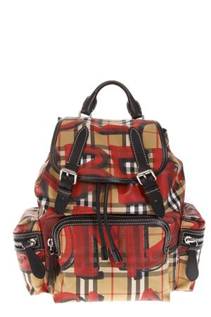 ROCKSACK VINTAGE CHECKED BACKPACK WITH GRAFFITI FW 2018 BURBERRY | 183 | 40758361BLACK