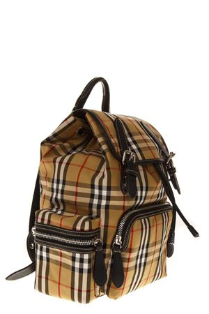RUCKSACK CHECKED CANVAS BACKPACK FW 2018 BURBERRY | 183 | 40767471YELLOW