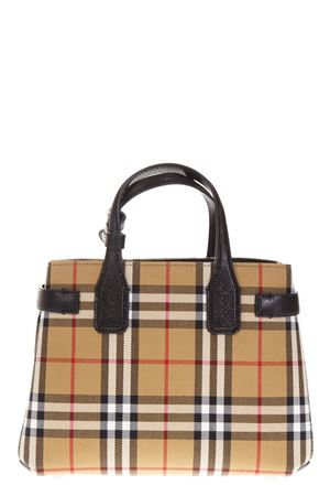 CHECK GOAT LEATHER TOTE BAG FW 2018 BURBERRY | 2 | 40769481BLACK