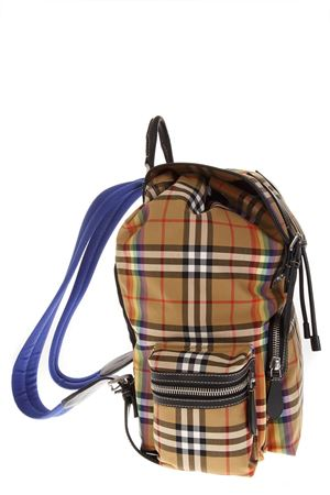 ROCKSACK BACKPACK IN COTTON RAINBOW VINTAGE CHECK FW 2018 BURBERRY | 2 | 40778851YELLOW