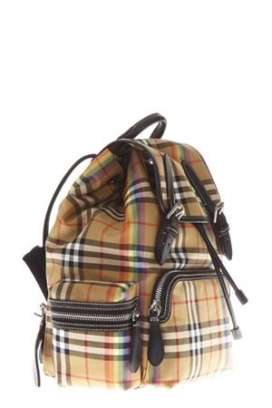 MULTICOLOR CHECKED BACKPACK FW 2018 BURBERRY | 183 | 40787671ANTIQUE /YELLOW