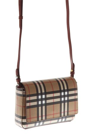 VINTAGE CHECK AND LEATHER MINI BAG WITH DETACHABLE STRAP FW 2018 BURBERRY | 2 | 40800661CRIMSON