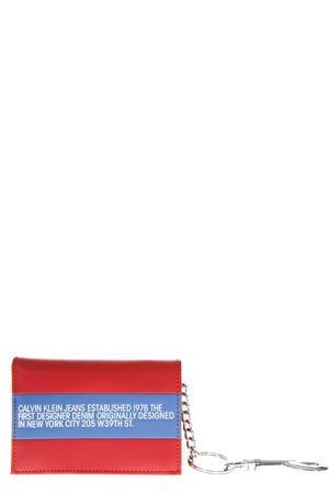 RED & BLUE LEATHER WALLET FW 2018 CALVIN KLEIN JEANS EST.1978   34   J40J400021UNI902