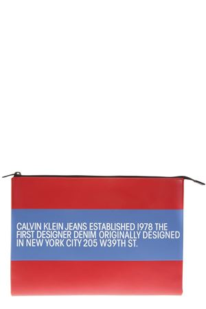 CK JEANS RED LEATHER POUCH FW 2018 CALVIN KLEIN JEANS EST.1978 | 2 | J40J400010676LEATHER676