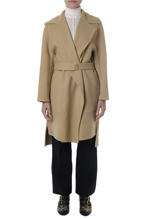 TAILORED CAMEL VIRGIN WOOL BELTED COAT FW 2018 CHLOÉ | 31 | C18AMA2007UNI20L