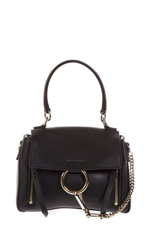 BLACK FAYE DAY BAG IN LEATHER FW 2018 CHLOÉ | 2 | C18AS140HGJUNI001