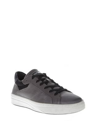 GRAY LEATHER SNEAKERS FW 2018 CRIME | 55 | 11604AA1B130