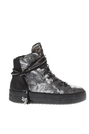 SNEAKERS HIGH-TOP IN PELLE SILVER AI 2018 CRIME | 55 | 25322AA1B130