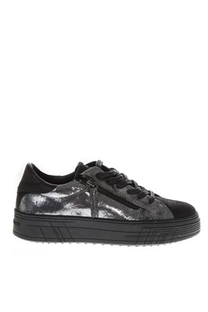 SNEAKERS LOW-TOP IN PELLE SILVER AI 2018 CRIME LONDON | 55 | 25363AA1B130