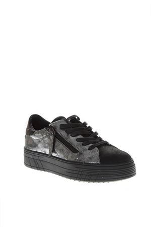 SNEAKERS LOW-TOP IN PELLE SILVER AI 2018 CRIME | 55 | 25363AA1B130