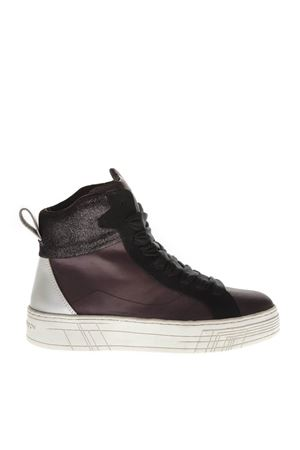 SNEAKERS HIGH-TOP IN PELLE BORDEAUX AI 2018 CRIME | 55 | 25380AA1B171