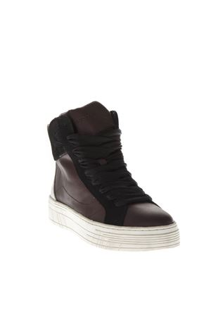 SNEAKERS HIGH-TOP IN PELLE BORDEAUX AI 2018 CRIME LONDON | 55 | 25380AA1B171
