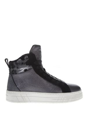 SNEAKERS HIGH-TOP IN PELLE GRIGIO AI 2018 CRIME | 55 | 25382AA1B130