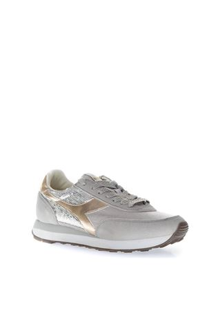 SILVER SNEAKERS WITH SUEDE INSERTS AND SEQUINS APPLIED FW 2018 DIADORA HERITAGE | 55 | 201.174391KOALA75040