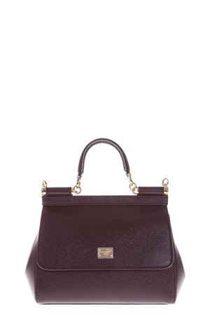 BORSA MINI SICILY IN PELLE  COLOR VINO AI 2018 DOLCE & GABBANA | 2 | BB6003A10018H307
