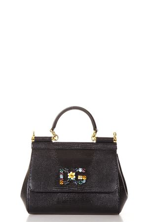 EMBELLISHED MEDIUM SICILY LEATHER BAG FW 2018/2019 DOLCE & GABBANA | 2 | BB6003AI74280999