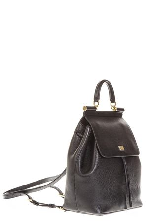 ZAINO SMALL SICILY IN PELLE COLOR NERO AI 2018 DOLCE & GABBANA | 183 | BB6036A803480999