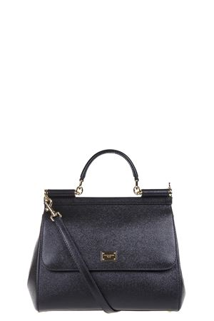 MISS SICILY BLACK DAUPHINE LEATHER BAG FW 2018/2019 DOLCE & GABBANA | 2 | BB6235A100180999