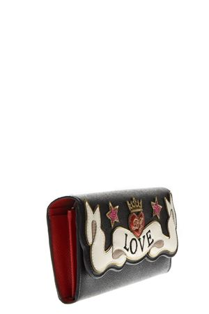 CONTINENTAL WALLET IN DAUPHINE CALFSKIN WITH EMBROIDERY PATCH FW 2018 DOLCE & GABBANA | 34 | BI0087AZ14680999