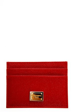 RED DAUPHINE LEATHER CREDIT CARD HOLDER FW 2018/2019 DOLCE & GABBANA | 110000025 | BI0330A100180303