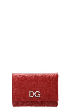RED LEATHER WALLET WITH DIAMONDS FW 2018/2019 DOLCE & GABBANA | 34 | BI0770AU77180303