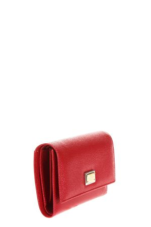 DAUPHINE RED LEATHER WALLET FW 2018/2019 DOLCE & GABBANA | 34 | BI0924A100180303