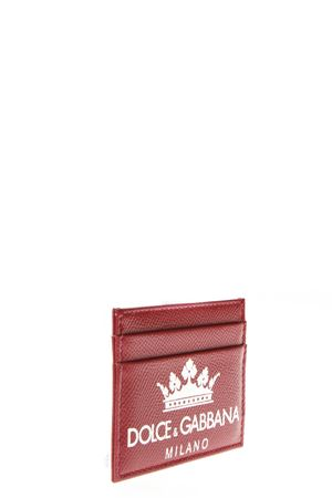 RED DAUPHINE LEATHER CREDIT CARD HOLDER WITH LOGO FW 2018 DOLCE & GABBANA | 34 | BP0330AI475HXR18