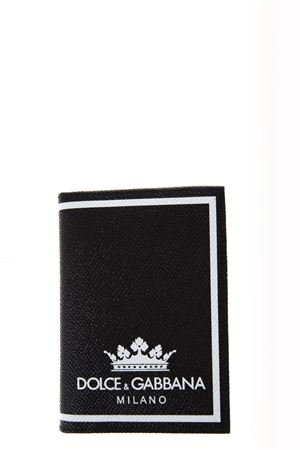 BLACK LEATHER WALLET WITH LOGO FW 2018/2019 DOLCE & GABBANA | 34 | BP2217AI475HNR18