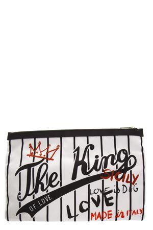 CLUTCH THE KING OF LOVE IN NYLON BIANCO AI 2018 DOLCE & GABBANA | 5 | BP2261AV080HWT26