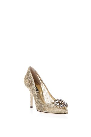 90MM BELLUCCI GOLD LACE & SWAROVSKI PUMPS FW 2018/2019 DOLCE & GABBANA | 68 | CD0101AE63780997
