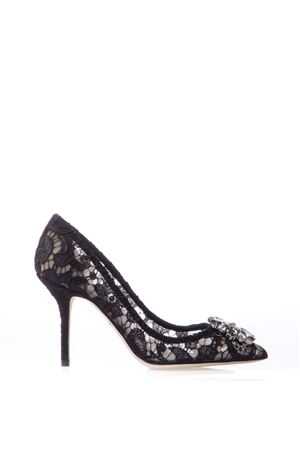 90MM BELLUCCI BLACK LACE & SWAROVSKI PUMPS FW 2018/2019 DOLCE & GABBANA | 68 | CD0101AL19880999