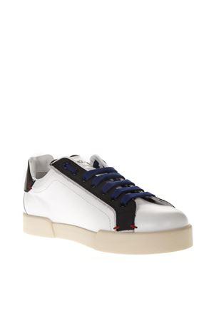 PORTOFINO WHITE & BLUE LEATHER SNEAKERS DOLCE & GABBANA | 55 | CS1613AU45189951