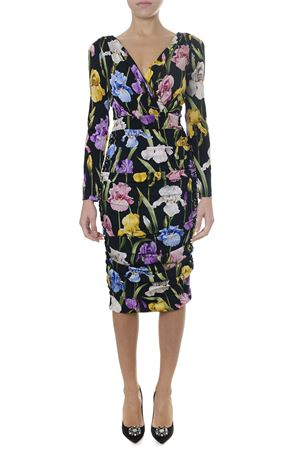 IRIS LONG MEDIUM FLOWER PRINT SILK DRESS FW 2018 DOLCE & GABBANA | 32 | F6A2FTFSAWHHNS50