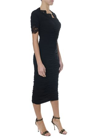 BLACK MEDIUM-LONG GEORGETTE DRESS AI 2018 DOLCE & GABBANA | 32 | F6A4QTFUABHN0000