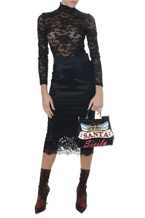BLACK LACED ADHERENT TOP FW 2018 DOLCE & GABBANA | 13 | F72U1TFLRDIN0000