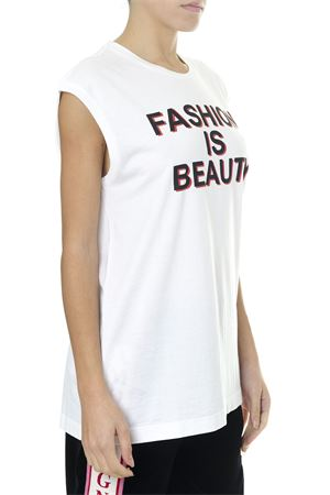 FASHION IS BEAUTY WHITE COTTON T-SHIRT FW 2018 DOLCE & GABBANA | 15 | F8K73THH7BIHWV79
