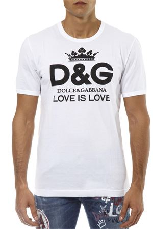 WHITE COTTON T-SHIRT WITH LOGO FW 2018 DOLCE & GABBANA | 15 | G8IVOTG7QESW0800