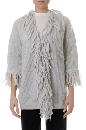 GREY ALPACA % MERINO WOOL FRINGED CARDIGAN SS 2019 DONDUP | 16 | DM194M005420021422