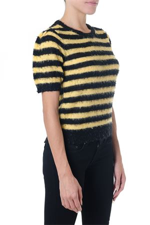 BLACK & YELLOW STRIPED KNITWEAR IN MOHAIR FW 2018 DONDUP | 16 | DM240M00607Q69UNI337N