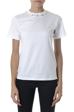 WHITE COTTON T-SHIRT FW 2018 DONDUP | 15 | S746JS0205Q701000