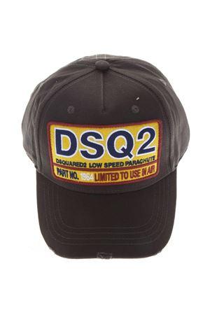 BLACK DSQ2 LOW SPEED COTTON HAT FW 2018 DSQUARED2 | 17 | BCM006405C000018063