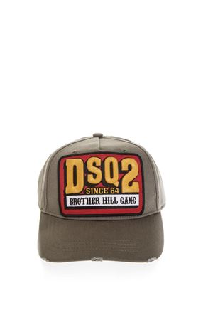 GREEN BORN IN CANADA HAT IN COTTON FW 2018 DSQUARED2 | 17 | BCM008405C000018066