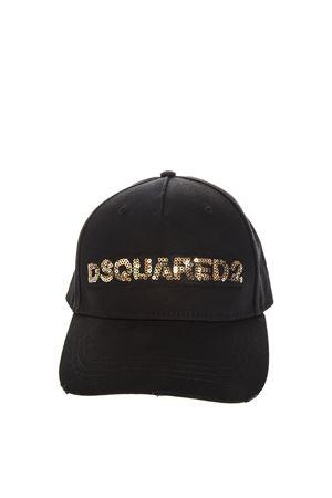 BLACK DSQ2 GLITTERED HAT IN COTTON DSQUARED2 | 17 | BCM011905C00001M085