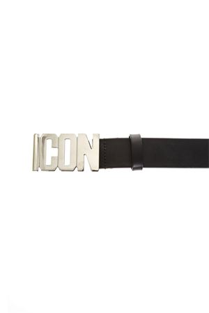 BLACK ICON BELT IN LEATHER FW 2018 DSQUARED2 | 12 | BEM009912900001M082